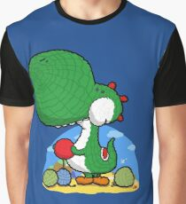 Wooly Egg Chucking Dinosaur Graphic T-Shirt