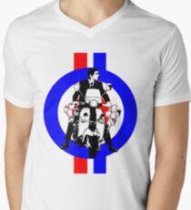 Sixties Mod Rider stripes Men's V-Neck T-Shirt