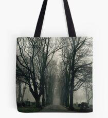 Foggy Path through the Cemetery Tote Bag