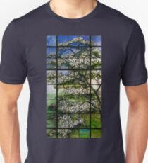 Dogwood Stained Glass Window Unisex T-Shirt