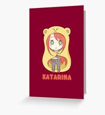 Katarina Chibi Greeting Card
