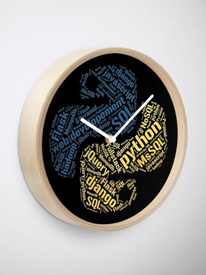 Vista alternativa de Reloj Camiseta y sudadera con capucha de Python Programmer