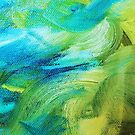 Blue and Green Impasto by ec-art