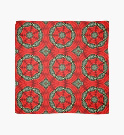 Red And Green Circles Pattern Scarf