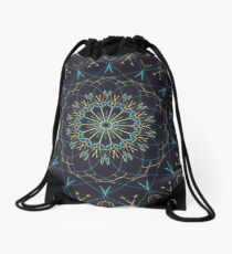Shining Blue Drawstring Bag