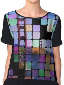 Golden Gate Bridge Modern Art Chiffon Top