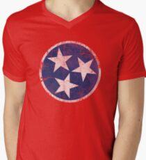 Vintage State Flag of Tennessee Men's V-Neck T-Shirt