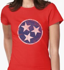 Vintage State Flag of Tennessee Womens Fitted T-Shirt