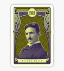 Nikola Tesla's Electric Mind Sticker