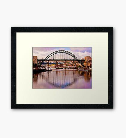Newcastle Bridges Framed Print