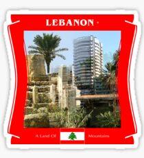 Libanon - Ein Land der Berge Sticker