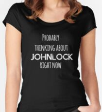 Thinking about Johnlock  2 Women's Fitted Scoop T-Shirt