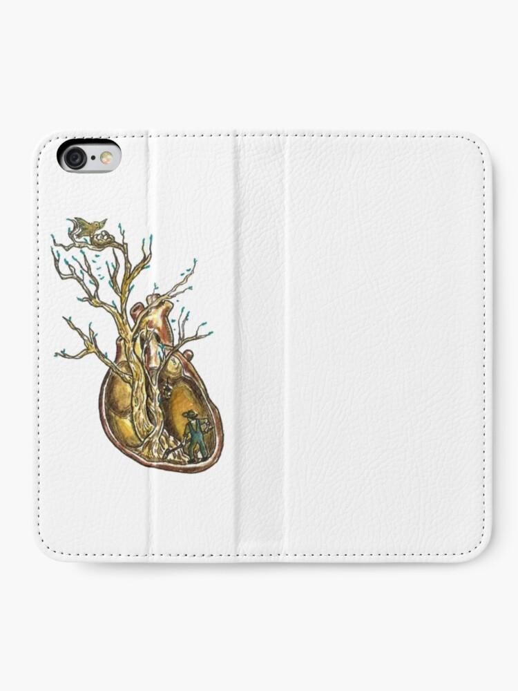 Vista alternativa de Fundas tarjetero para iPhone Love Roots