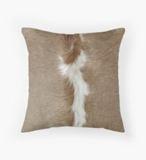 A Patch of Cowhide. Throw Pillow