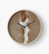 Ein Patch aus Kuhfell. Uhr