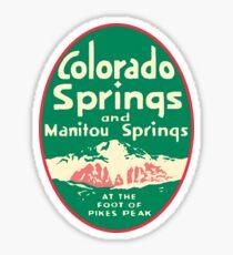 Colorado Springs Vintage Travel Decal Sticker