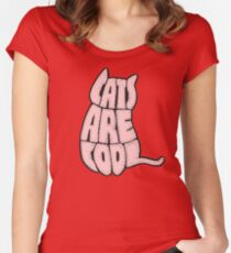 Cats are cool Women's Fitted Scoop T-Shirt