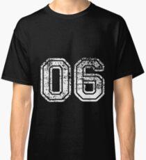 Sport Team Jersey 06 T Shirt Football Soccer Baseball Hockey Double Basketball Zero Six 0 6 Classic T-Shirt