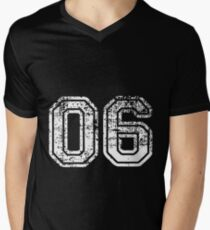 Sport Team Jersey 06 T Shirt Football Soccer Baseball Hockey Double Basketball Zero Six 0 6 Men's V-Neck T-Shirt