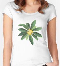 Loquat medlar tree in Autumn I Women's Fitted Scoop T-Shirt