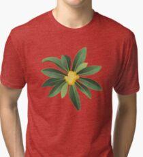 Loquat medlar tree in Autumn I Tri-blend T-Shirt