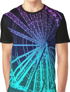 Pastel Brisbane City - Wheel of Brisbane Graphic T-Shirt
