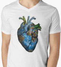 Corazón Errante Camiseta para hombre de cuello en v