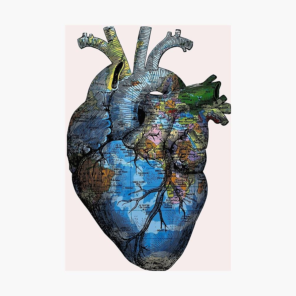 Corazón Errante Lámina fotográfica