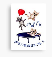 love jumping pussie's Canvas Print