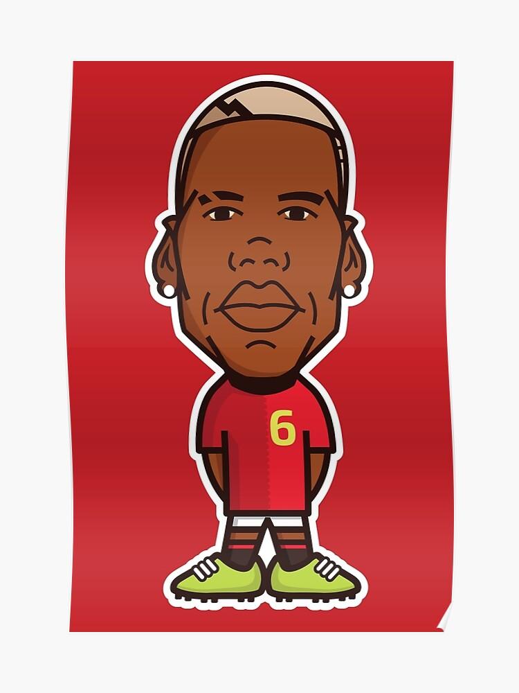 156ef8c4a0b6d Paul Pogba, Manchester United Shirt   Poster