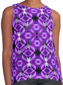 Purple Passion Abstract Pattern Contrast Tank