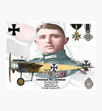 Oberleutnant Max Immelmann Photographic Print