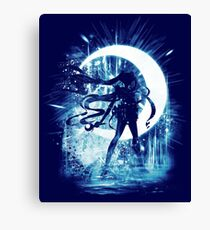 moon storm Canvas Print