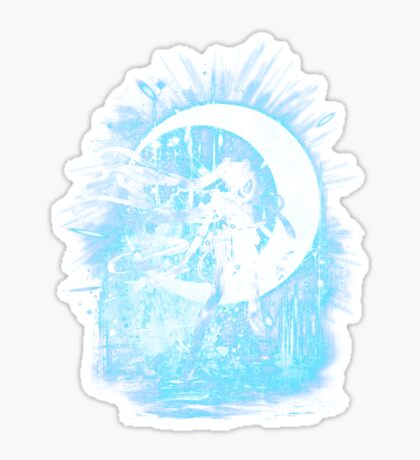 moon storm Sticker