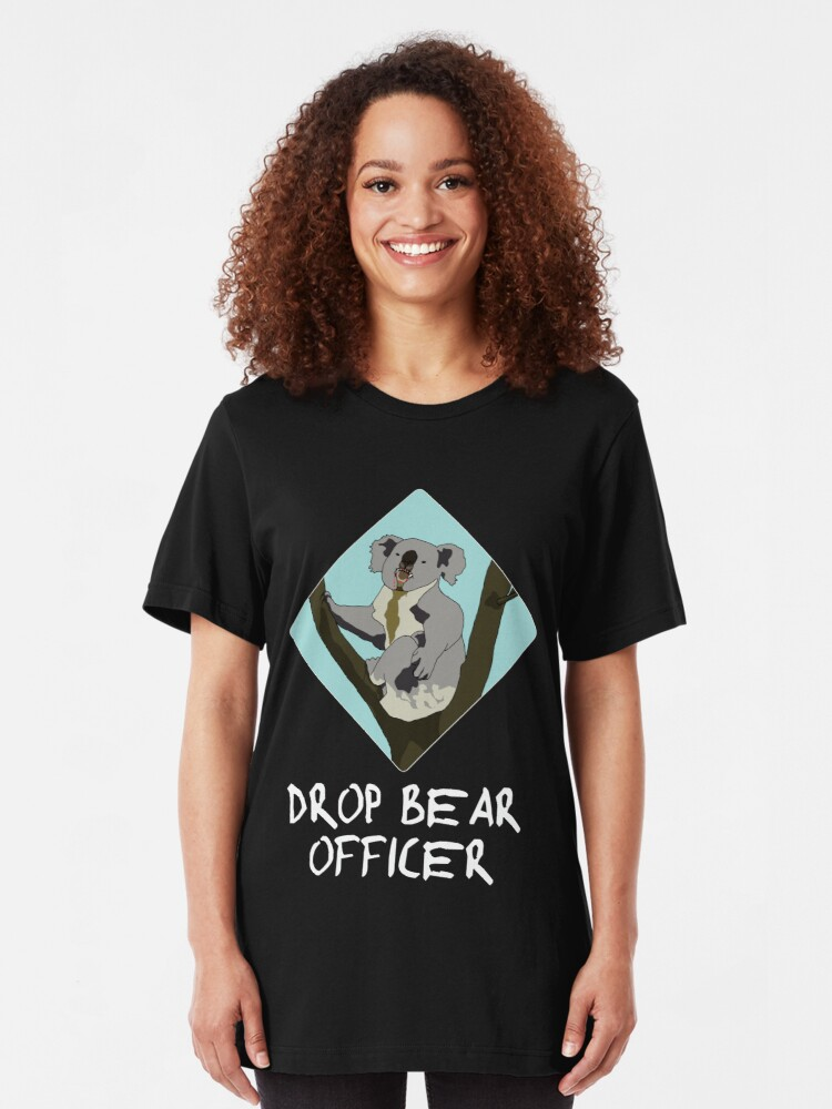 Alternate view of Drop Bears Preservation Society Slim Fit T-Shirt