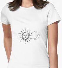 Bohemian Sun & Moon Womens Fitted T-Shirt