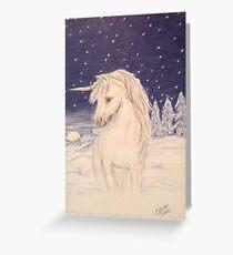 Winter unicorn Greeting Card