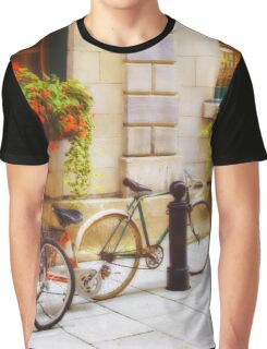 Tandem Bicycle and Flowers 2 Graphic T-Shirt