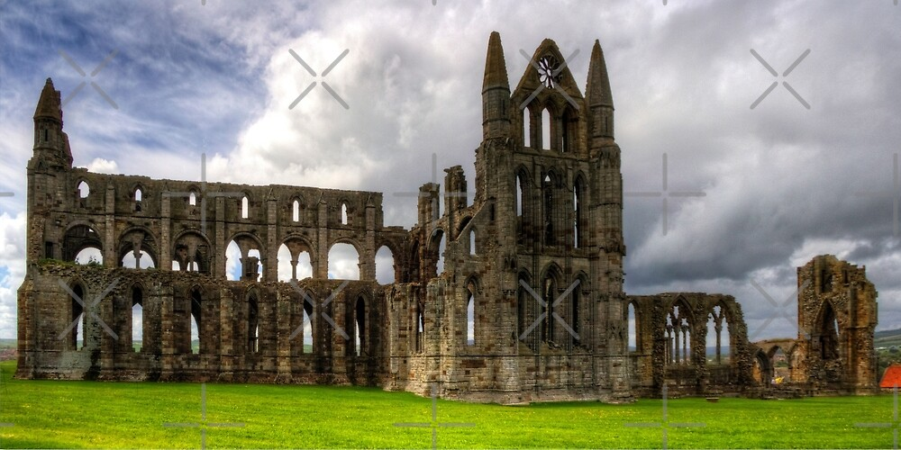 The remains of Whitby Abbey by Tom Gomez