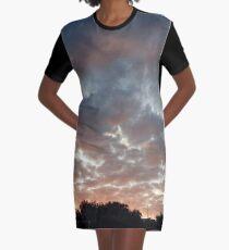 Painted Skies  Graphic T-Shirt Dress