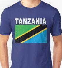 Tanzania Distressed Flag Sport Design Unisex T-Shirt