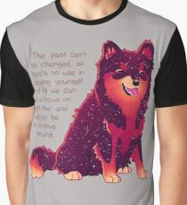 """The Past Can't Be Changed"" Galaxy Pup Graphic T-Shirt"