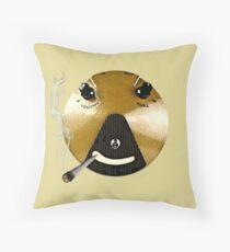 Smoking Fuzz Face Throw Pillow