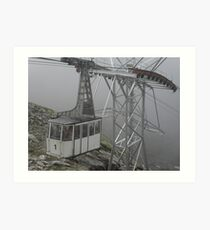 WERE EAGLES FLY,WE ARRIVED TOO - This is our cable car -ITALY - EUROPA- VETRINA RB EXPLORE 25 SETTEMBRE 2013 -                         A Art Print