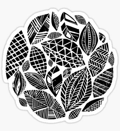 Geometrical nature print / little geometric leaves Sticker