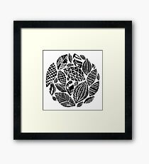 Geometrical nature print / little geometric leaves Framed Print