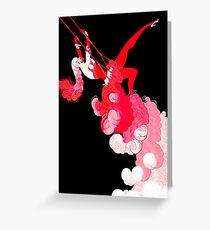 "Art Deco Design by Erte ""Trapeze"" Greeting Card"