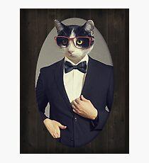 Tuxedo Cat in a Tuxedo Photographic Print