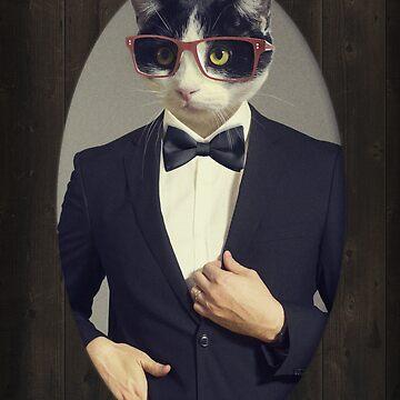 Tuxedo Cat in a Tuxedo by beccers222
