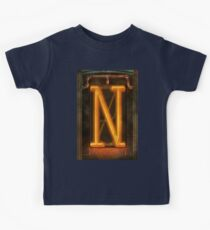 Steampunk - Alphabet - N is for Nixie Tube Kids Tee